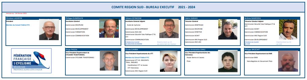 BUREAU EXECUTIF COMITE REGION SUD FFC